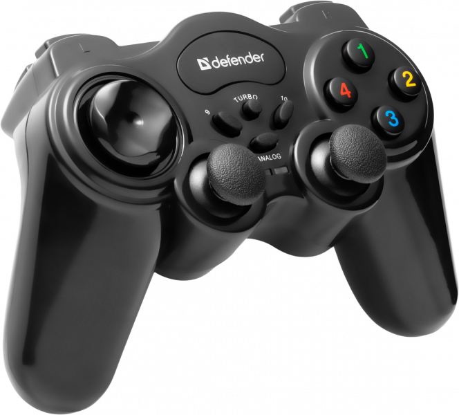 Defender Technology GAMEPAD Game Master Wireless gamepad, USB, radio, 12 buttons, 2 stick