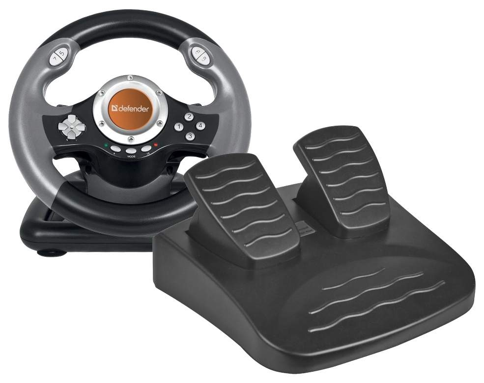 Defender Technology Volan CHALLENGE MINI LE, Gaming wheel, USB, mini, 10 buttons