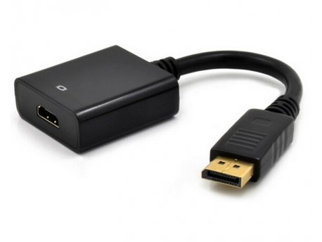 E-GREEN Adapter DisplayPort (M) - HDMI (F) crni