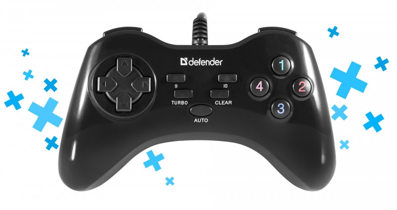 Defender Technology Dzojstik GAME MASTER G2, Wired gamepad, USB, 13 buttons